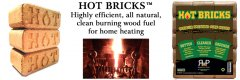 Pelham, NH Hot Bricks The Alternative to Cord Wood Bio Bricks