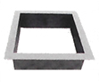 Unilock Brussels Sunset Square Fire Pit Kit Basic Ring with Flange